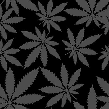 hashish: Leafs Marijuana - cannabis. Seamless pattern - vector stock.