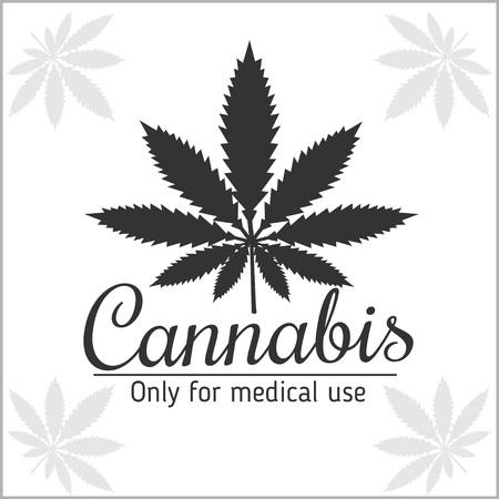 marihuana: La marihuana logo - cannabis para uso médico. Ilustración del vector.