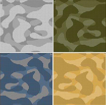 Pixel Patrón De Camuflaje Digital Ilustraciones Vectoriales, Clip ...