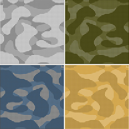 nato: Digital camouflage seamless patterns - vector set points.