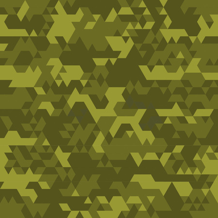 acu: Digital camouflage seamless patterns - vector set triangles. Illustration