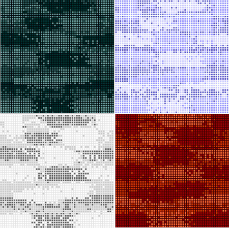 Digital camouflage seamless patterns - vector set points.