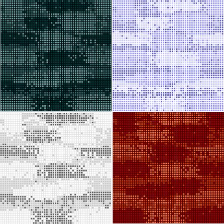 Digitale camouflage naadloze patronen - vector set punten. Stock Illustratie