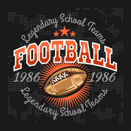 アメリカン フットボール - ポスター、チラシ、t シャツ プリントやスポーツウェアのビンテージ ベクトル ラベル。
