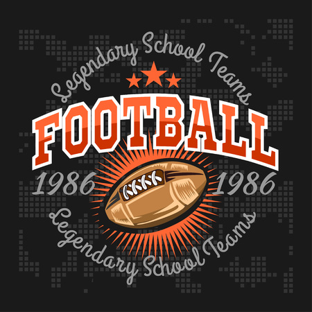 t background: American football -  vintage vector labels for poster, flyer or t-shirt print and sportswear.