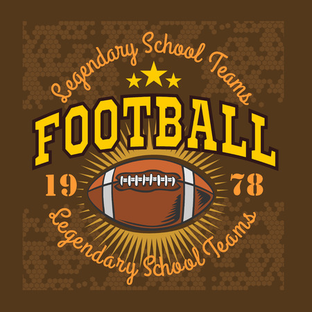american vintage: American football -  vintage vector labels for poster, flyer or t-shirt print and sportswear.