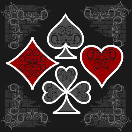 playing card symbols: