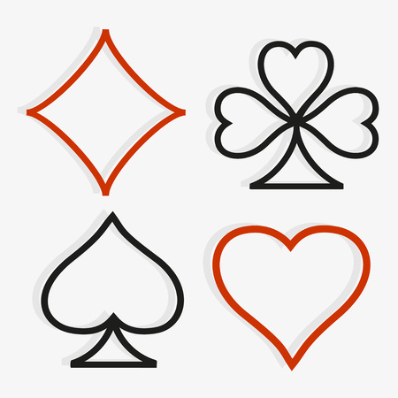 playing card symbols: Playing card symbols in modern style. Vector set.