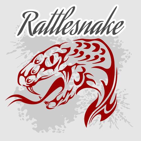 rattlesnake: Rattlesnake -  vintage vector artwork for wear. Vector stock.