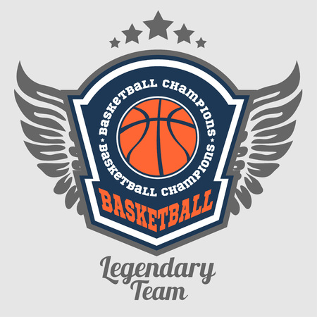 Basketball championship - vector emblem t-shirt, prints, badges