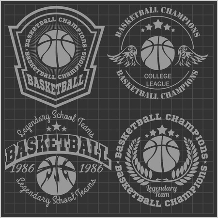 Basketball championship - vector emblem t-shirt, prints, badges