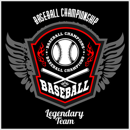 beisbol: Sello del béisbol de la vendimia y la insignia. Ilustración del vector. Vectores