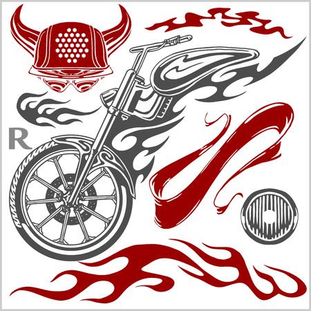 Motorcycle Elements  - set for  emblem.