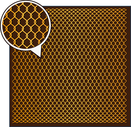 artes marciales mixtas: Acero Textura Wire - Antecedentes Octagon. Ilustraci�n del vector. Vectores