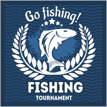 sportfishing: Fishing emblem, badge and design elements - vector illustration Illustration