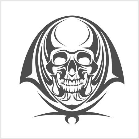 roger: Vector Demon Skull isolated on white background
