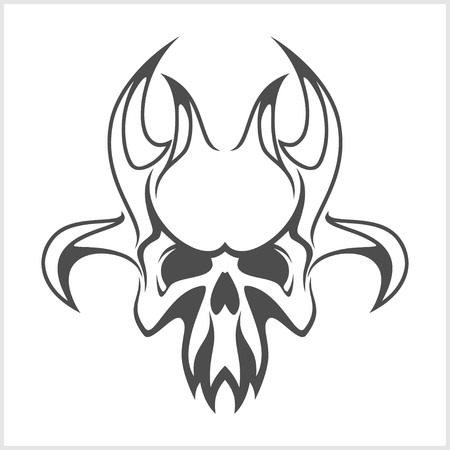 damnation: skull demon or evil horror - vector illustration Illustration