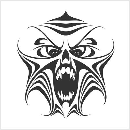 phantom: Virus computer - Demon and Phantom - isolated on white. Illustration