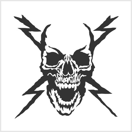 danger sign: vector skull danger sign isolated on white Illustration