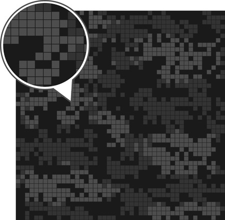 acu: Digital camouflage seamless patterns - vector set squares. Dark version.