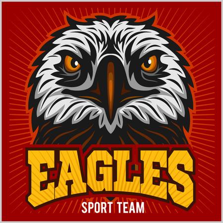 Eagles - sport team. Head Eagle and inscription