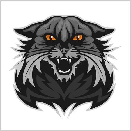 Wildcat mascotte - sportteam. Geïsoleerd op wit