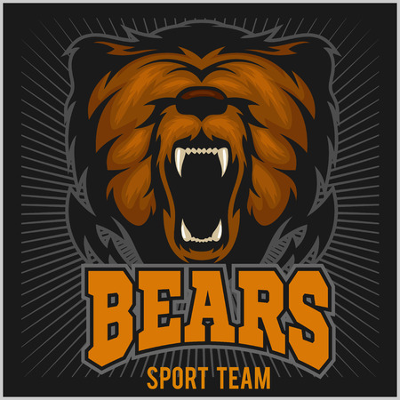 kodiak: Bear Head Logo Mascot Emblem.