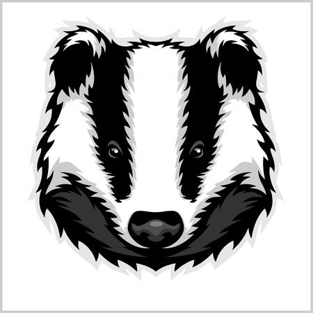Badger Head bianco e nero