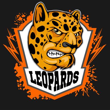 undomestic: Leopard head mascot for sport team