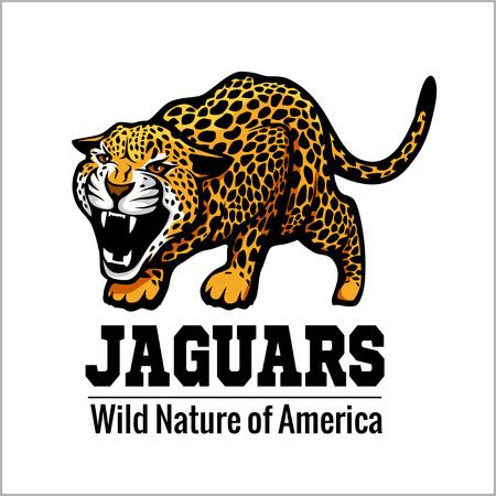 no correr: jaguar logo icon vector character illustration