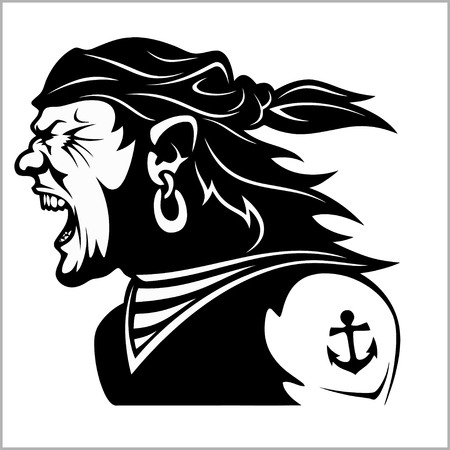 Furious pirate - Screaming sailor.