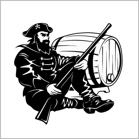 filibuster: Pirate with a gun and barrel