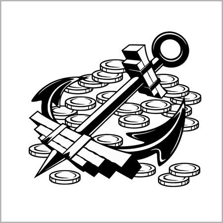 flint gun: Pirate Emblem - Anchor and Coins