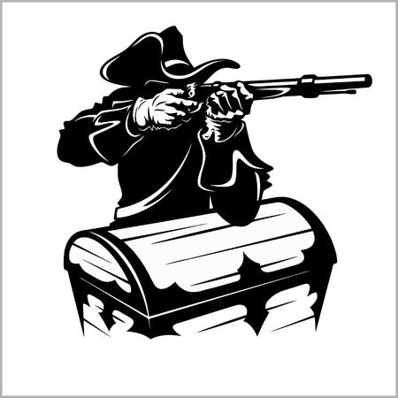 Pirate with a gun