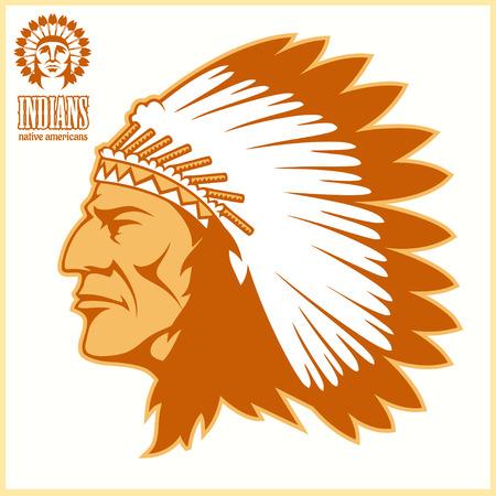 American native chief head.