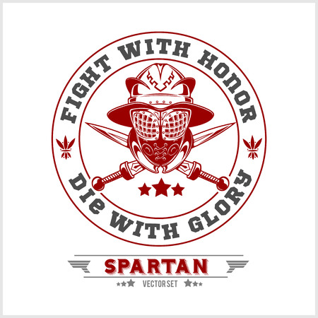 male symbol: Spartan Team Logo and emblems - vector set on white background