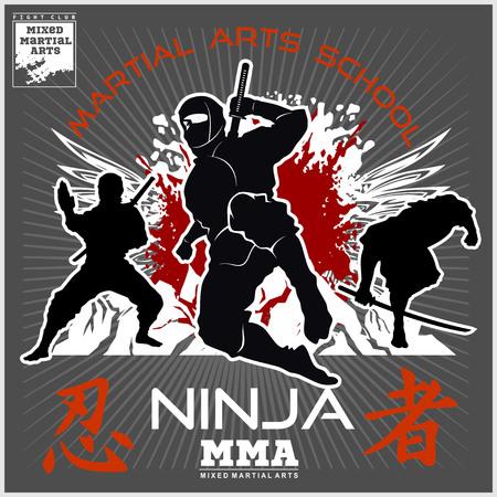 Martial arts school banner.