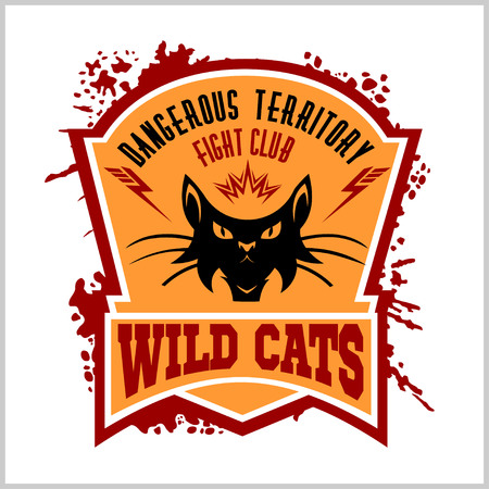 Wildcat mascot - sport team. Illustration