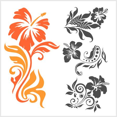 Lilly - floral design. Female tattoo. Vector illustration on a white background. Banque d'images - 103854039