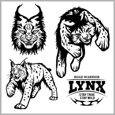lynx wildcat logo mascot illustration