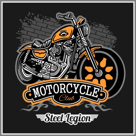 Chopper Motorcycle typography, t-shirt graphics, vectors Ilustrace