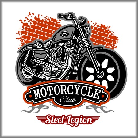 Chopper Motorcycle typography - t-shirt vectors graphic Illustration