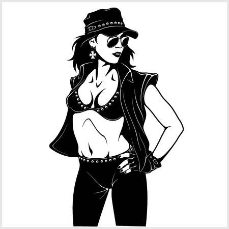 Cool rocker sexy girl
