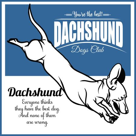 Dachshund - vector illustration for t-shirt and template badges