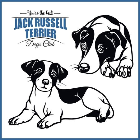 Jack Russell Terrier - vector illustration for t-shirt and template badges