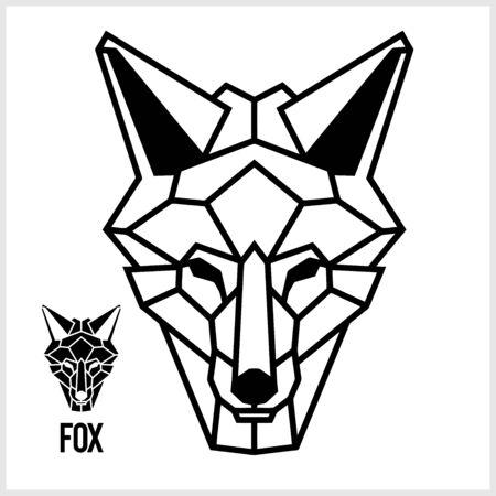 Abstract linear polygonal head of a Fox. Vector.