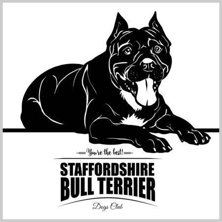 Staffordshire Bull Terrier - vector illustration for t-shirt, logo and template badges Ilustrace