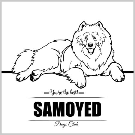 Samoyed Dog - vector illustration for t-shirt, logo and template badges