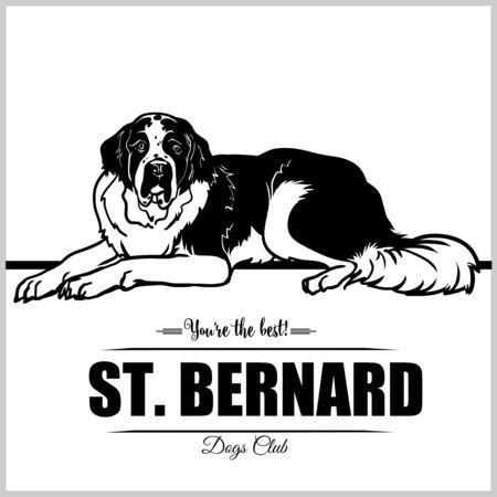 St. Bernard Dog - vector illustration for t-shirt, logo and template badges Illustration