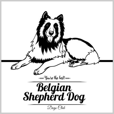 Belgian Shepherd Dog - vector illustration for t-shirt, logo and template badges